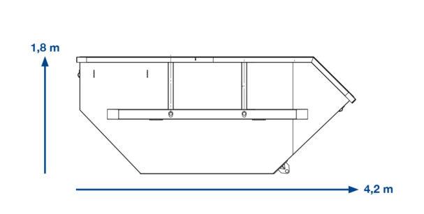 ABSETZMULDE  Grünschnitt – 10 m³ offen