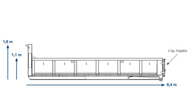 ABROLLCONAINTER Grünschnitt –  11 m³ offen
