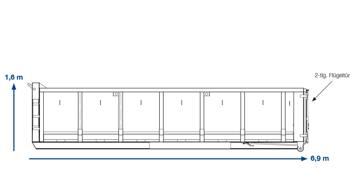 ABROLLCONAINTER BAUSTELLENABFALL – 20 m³