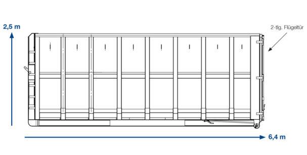 ABROLLCONAINTER Grünschnitt –  31 m³ offen