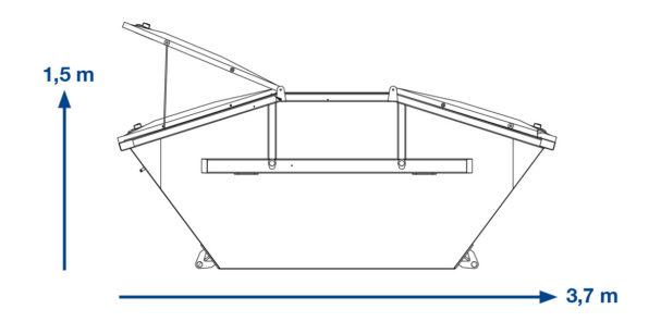ABSETZMULDE  BAUSTELLENABFALL –  7 m³ mit Deckel