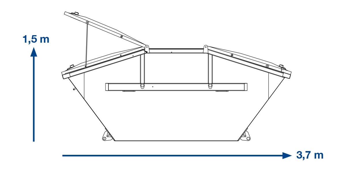 ABSETZMULDE  MISCHMÜLL (SPERRMÜLL) –  7 m³ mit Deckel