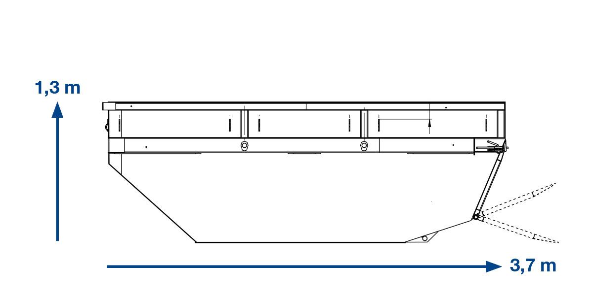 KLAPPMULDE  BETON –  7 m³